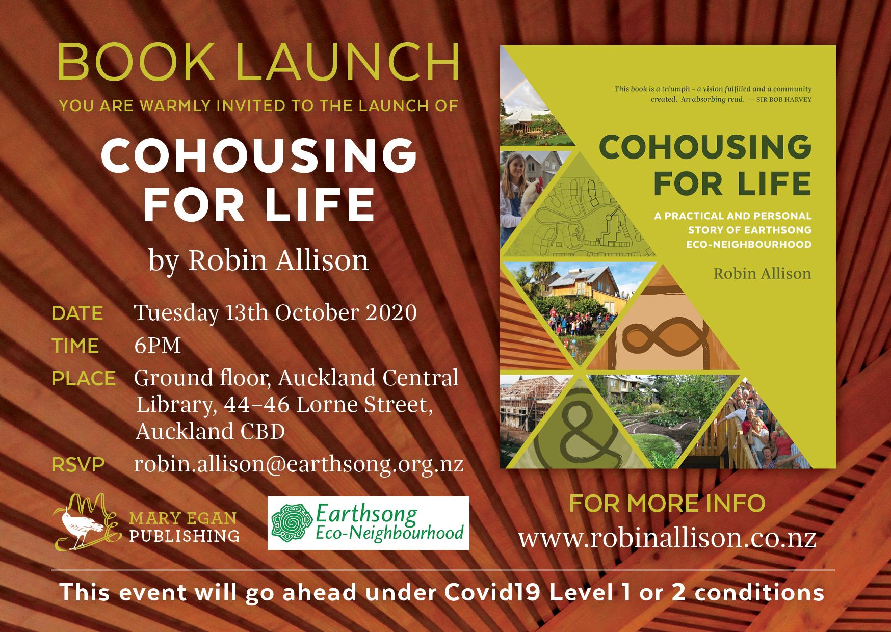 Re-scheduled book launch next week!